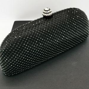 Cube Diamonte Clutch Black Diamond handbag women's eveningwear crossbody clasp